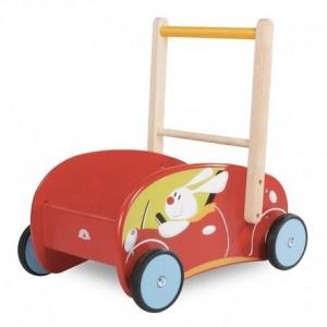 Chariot de marche avec freins lapin wonderworld - jouets en bois