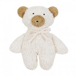 Peluche efie petit ours blanc teddy  coton bio 20 cm - jouets bio gots
