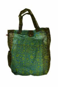 Sac tote bag coton imprime indian ethnic chic cachemire et fleurs
