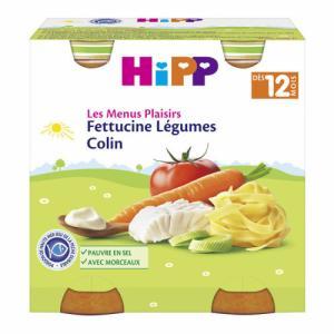 HiPP Menus Fettucine Légumes Colin 12m