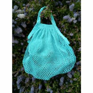 Filet provision turquoise coton bio