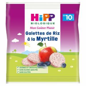 HiPP Galettes de Riz myrtille dès 10m