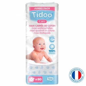 TIDOO Maxi carrés coton Bio Familial (x80)