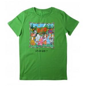 Tee-shirt vert coton bio Ca va Bio