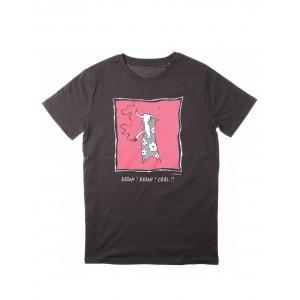 Tee-shirt anthracite coton bio Beuh ! Beuh ! cool !