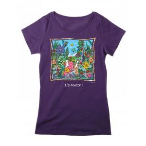 Tee-shirt femme coton bio prune Bio Magik