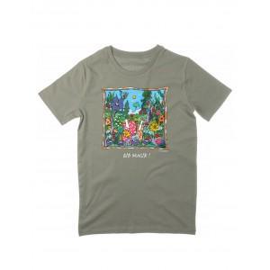 Tee-shirt kaki clair coton bio Bio Magik