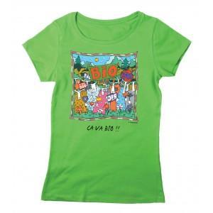 Tee-shirt coton bio vert Ca va Bio