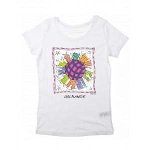 Tee-shirt femme blanc Chic Planet