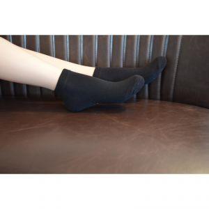 Socquettes gris chiné coton bio