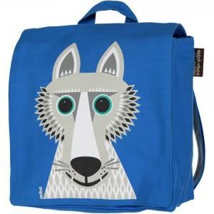 Sac à dos bleu loup en coton bio