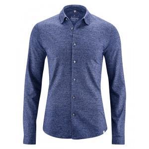 Chemise manches longues jersey coton bio chanvre