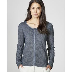 Veste zippée gris anthracite chanvre coton bio Juliane