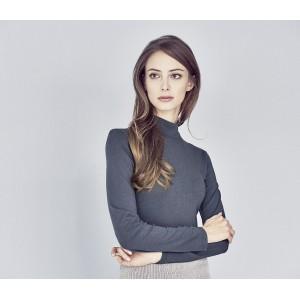 Tee-shirt col roulé coton bio chanvre Kimberly