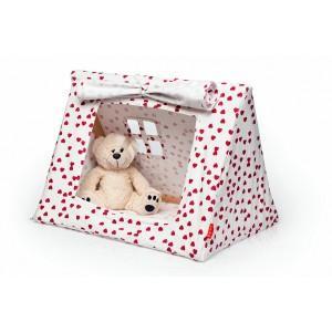 Mini tente coton bio fushia