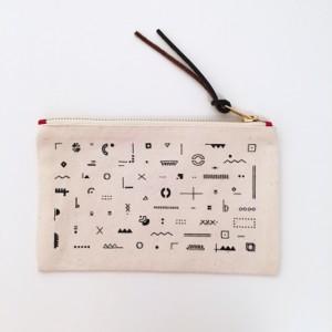 Trousse beige coton bio Graphique