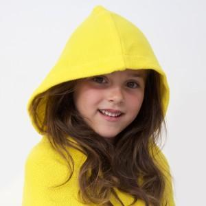 Cap de bain jaune coton bio