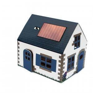 Veilleuse solaire en carton Bretagne