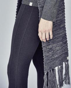 Pantalon stretch en coton bio et chanvre Sania