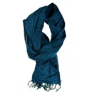Cheche foulard bleu végétal