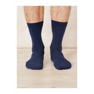 Chaussettes chanvre et coton bio bleues