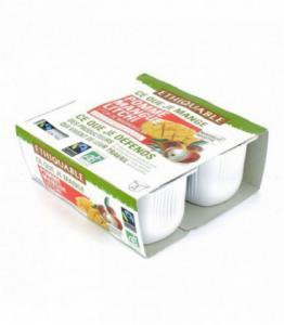 Purée de pomme mangue litchi bio et équitable