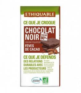 Chocolat Noir Fèves de Cacao bio - équitable