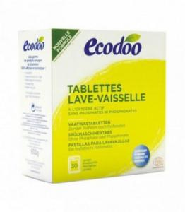 Tablettes lave-vaisselle écologiques hydrosolubles à l'oxygène actif