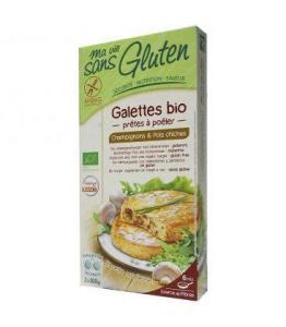 Galettes bio Champignons - pois chiches bio - sans gluten