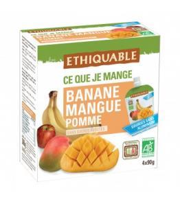 Purée Banane, Mangue, Pomme bio - équitable en gourde