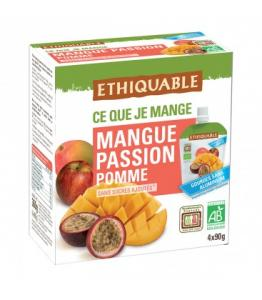 Purée Mangue, Passion Pomme bio - équitable en gourdes
