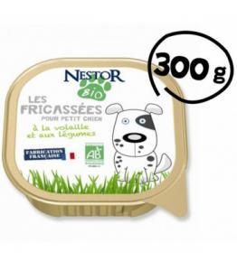 Fricassée bio pour petit chien à la volaille et aux légumes