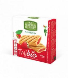 DESTOCKAGE - Biscuits Twibio fourrés à la fraise bio - vegan