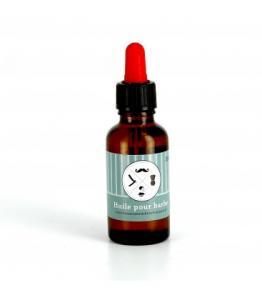 Huile pour barbe aux huiles de ricin, vetiver, jojoba et sésame 100% bio - vegan