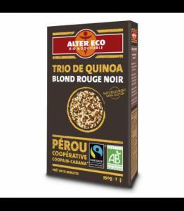 Trio de quinoa blond rouge noir bio - équitable
