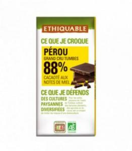 DESTOCKAGE - Chocolat Noir Grand Cru 88% bio - équitable
