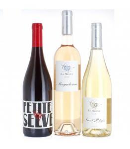 Coffret de trois vins bio - Chateau de la Selve - Rouge, Blanc et Rosé