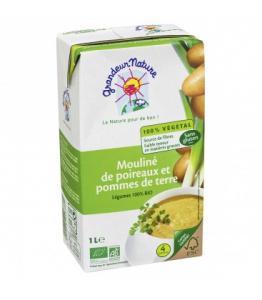 Mouliné de poireaux et pommes de terre bio - sans gluten