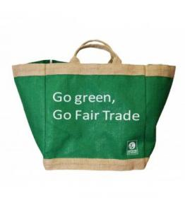 Cabas 'Go Green Go Fair trade'
