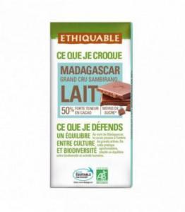DESTOCKAGE - Chocolat au lait 50% Grand Cru de Madagascar bio - équitable