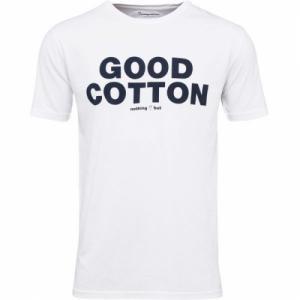 T-Shirt Good Cotton Print Bright White
