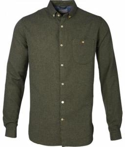 Solid Flanel Shirt Rifle Green