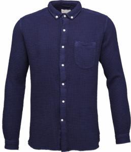 Waffel Weaved Shirt Peacoat