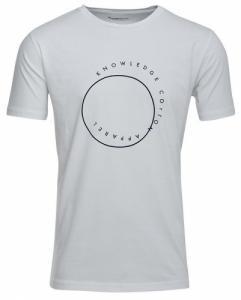 T-Shirt Cirkle Print Bright White