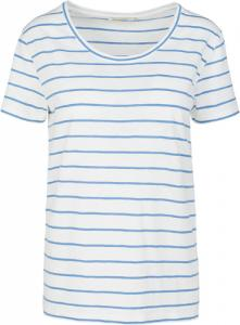 Josi Stripes Off White-Azure Blue