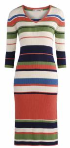 Esther Dress Multi Stripes