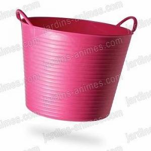 Baquet coloré Rose 26L