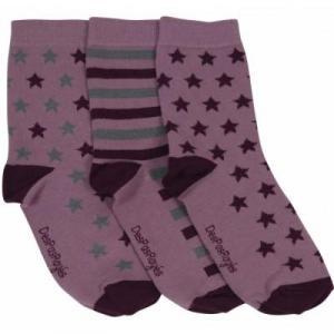 Chaussettes femme roses étoiles