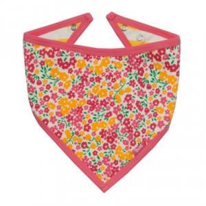Bavoir bandana coton bio fleurs