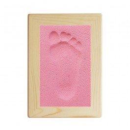 Kit d'empreinte bébé cadre rectangulaire - rose